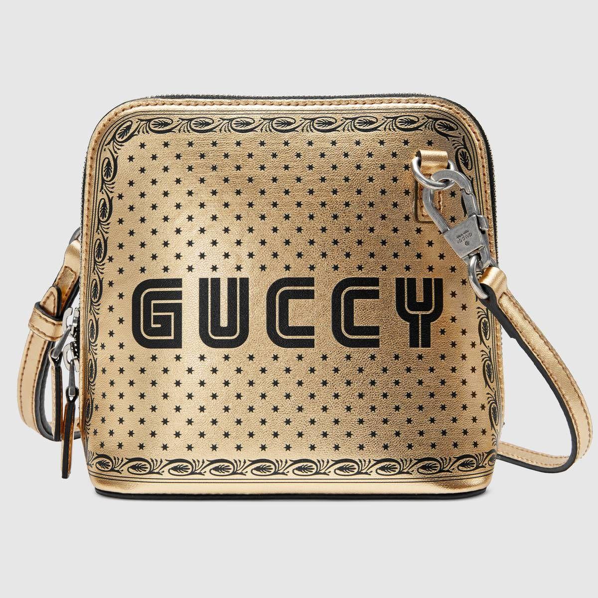 cfbea572122 Guccy print mini shoulder bag