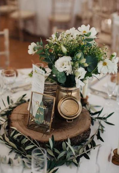 Pin By Alexis Barone On Blach Wedding Rustic Wedding Centerpieces Wedding Reception Tables Green Wedding Centerpieces