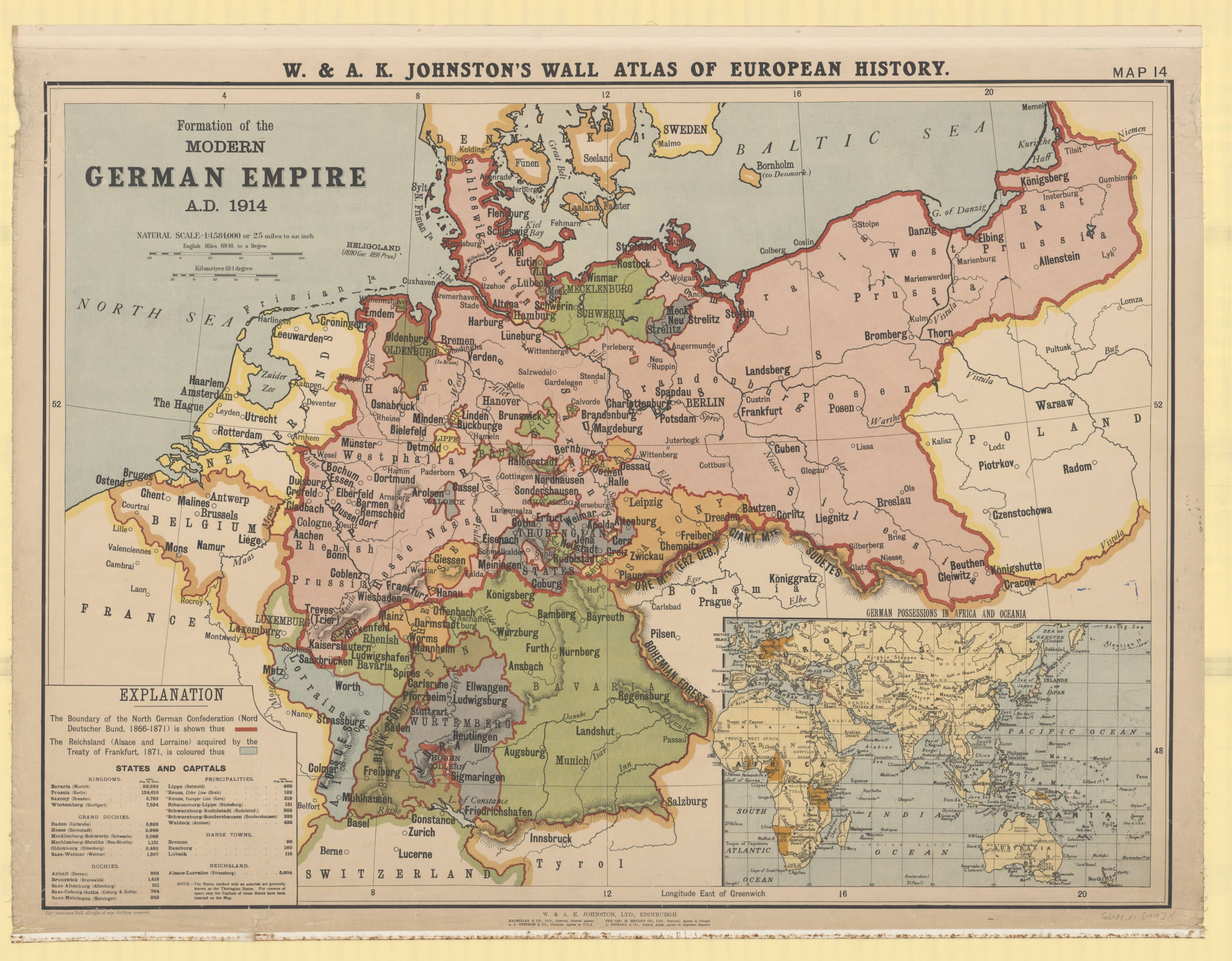 Formation of the modern German empire, A.D. 1914 | Sublime Maps ...