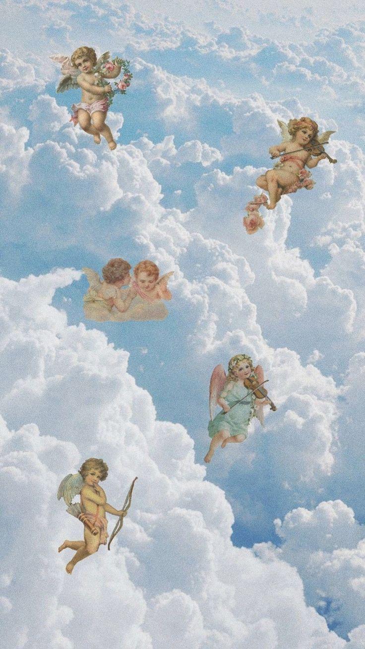 Lockscreens Icons Aesthetic Wallpapers Angel Wallpaper Aesthetic Art