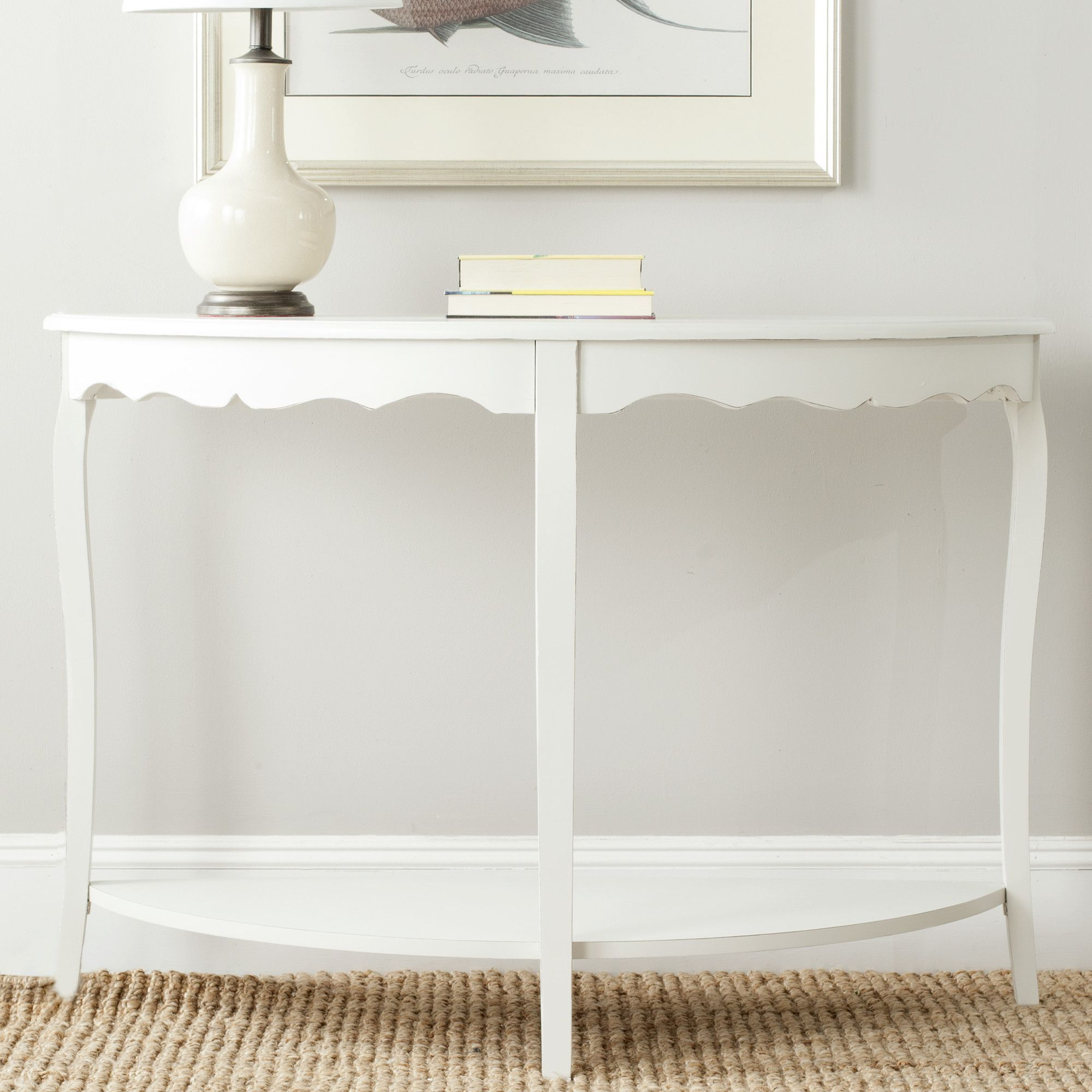 Safavieh Christina Console Table Reviews Wayfair White - Wayfair white sofa table