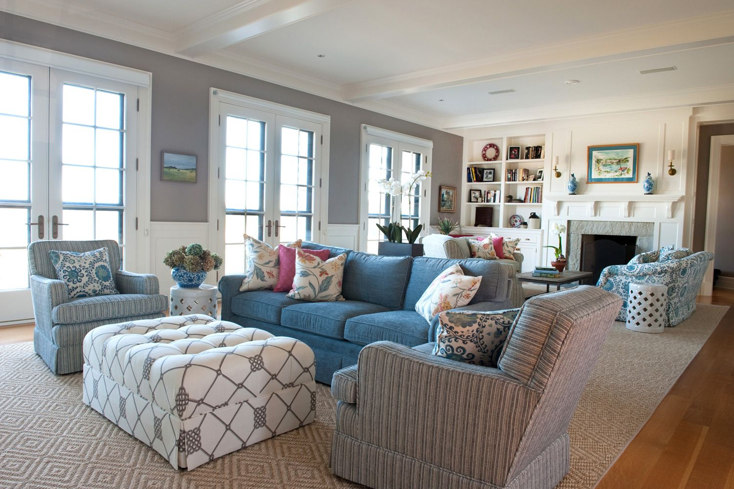 Coastal New England Julie Warburton Design Living Room