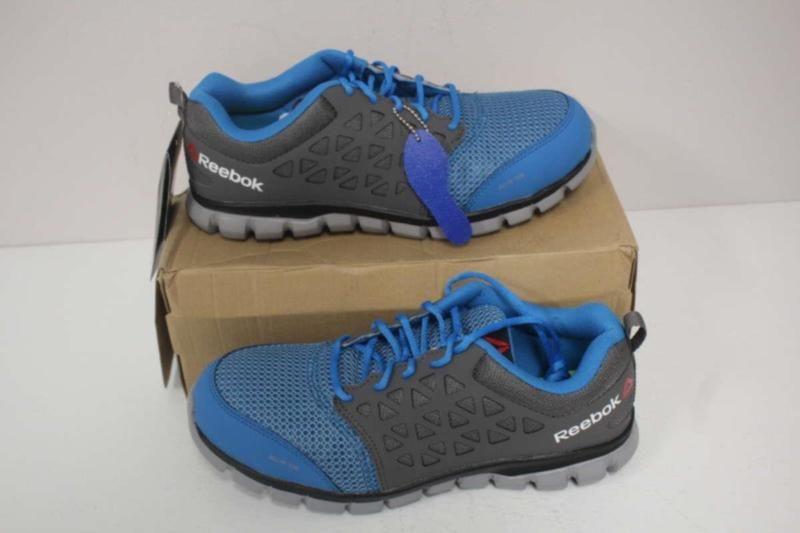 online store 50517 cd70c Reebok Men s 9.5W Sublite Cushion Work Shoe Blue Grey RB4040
