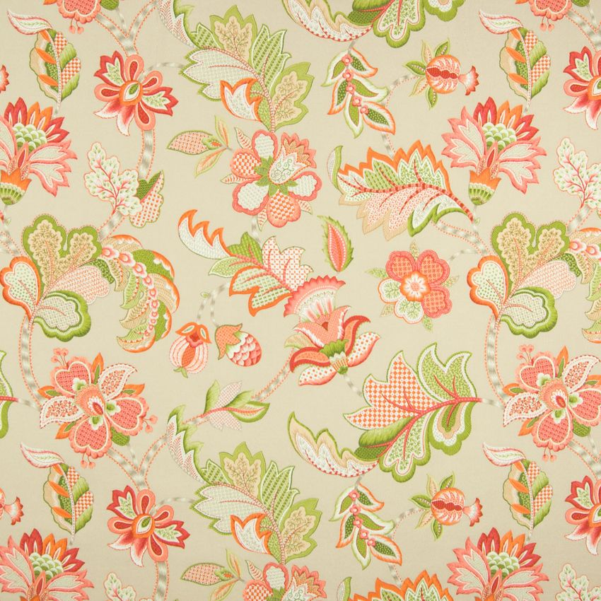 Citrus Orange Floral Made In Usa Upholstery Fabric Envelope Boxes
