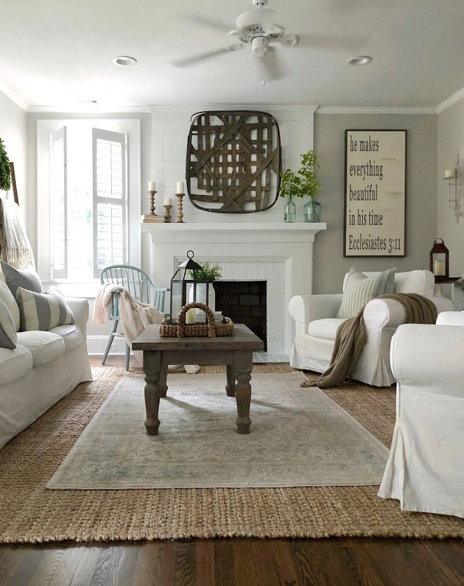 Agreeable Gray Living Room : Farmhouse Living Room Paint Color Sherwin Williams ...