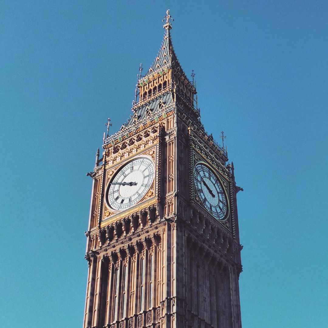 Big Ben in London.. #bigben #london #clock #bridge #westminster #westminsterbridge #thames #river #capital #arch #architecture #historic #history #parliament #housesofparliament #government #royalty #landmark #bluesky #clouds #touristattraction #tourist #england #travel