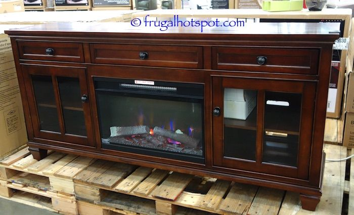 Costco: Universal Broadmoore Media Console with Fireplace ... on Costco Outdoor Fireplace  id=38106