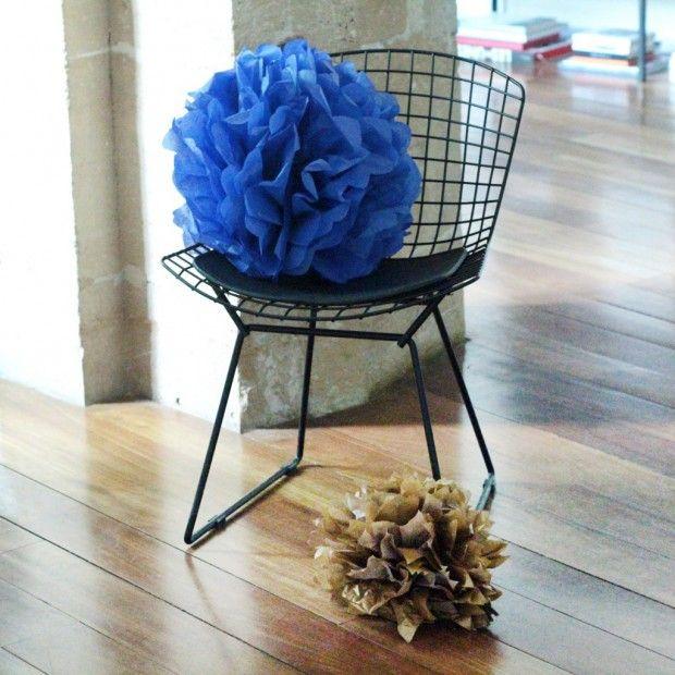 DIY  comment faire un pompon en papier de soie ? DIY fashion, DIY - sorte de peinture pour maison