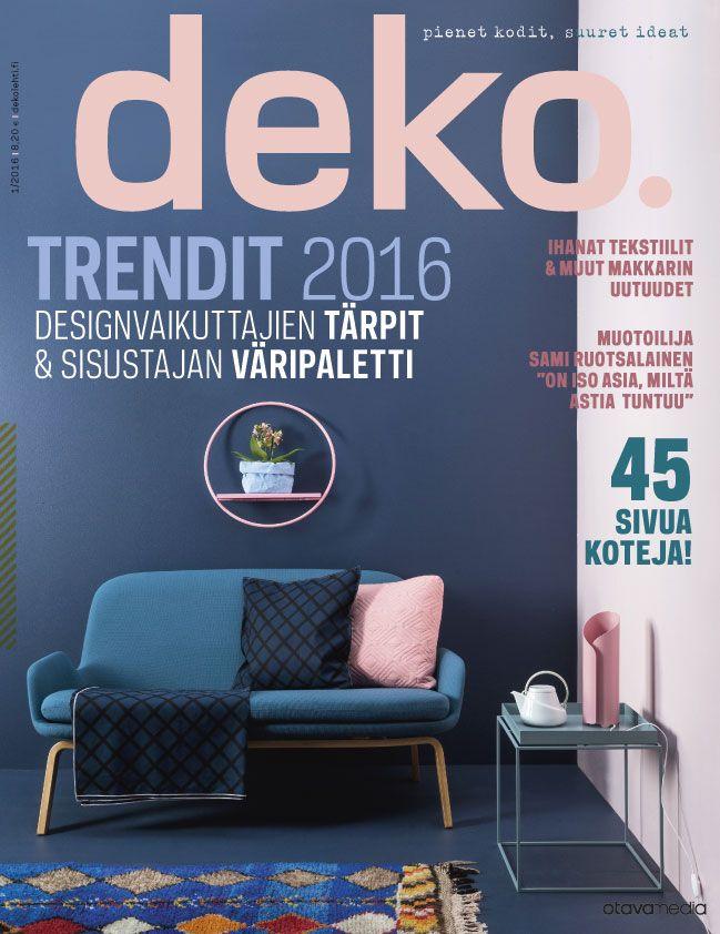Deko Magazine lempi shelf in deko magazine cover design by anni pitkäjärvi