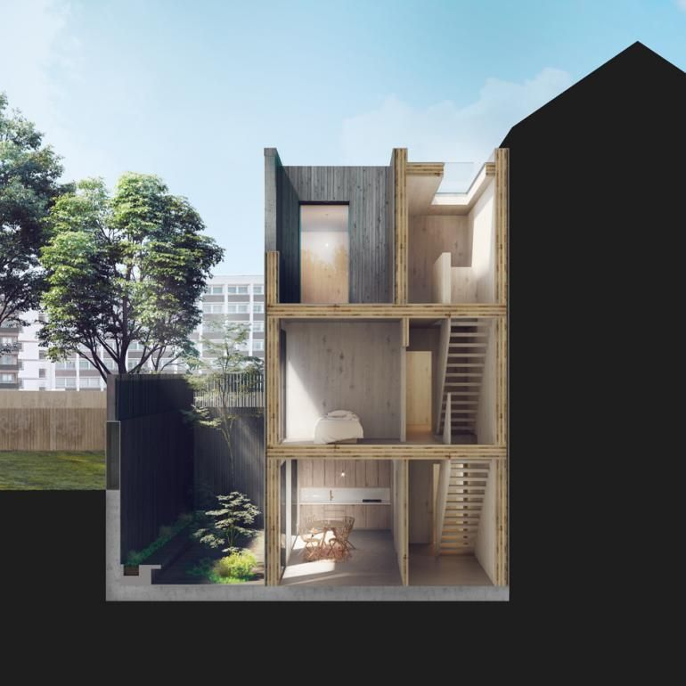 Cube haus launches modular house designs also david adjaye and leading architecture practices design flexible rh pinterest