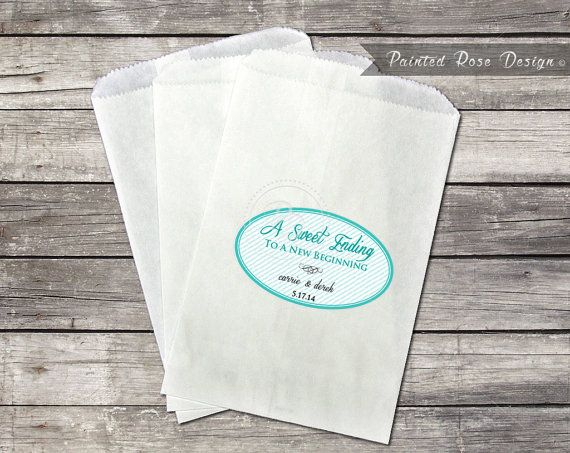 Candy Bag Stickers Wedding Bar Labels By PaintedRoseDesign