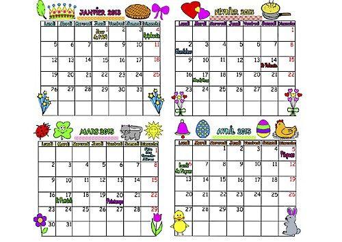 Calendrier gratuit francais 2015 French calendar French Grammar