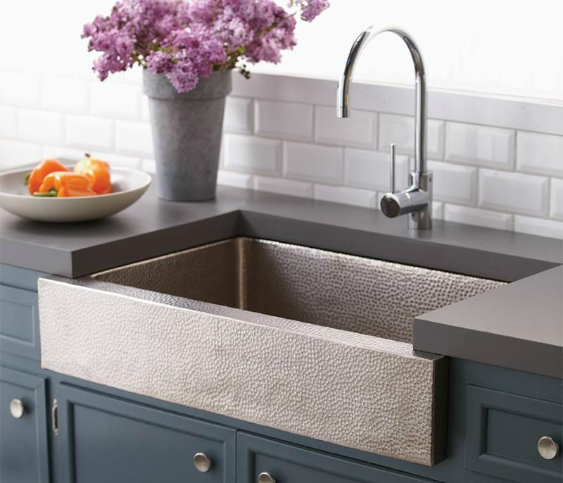 Nice Crafted Of Hand Hammered Copper, The Paragon Sink Basin From Native Trails  Adds A Dashing Textural Note To Any Kitchen. Produced In A Brushed Nickel  (shown) ...