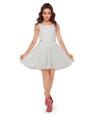 Sally Miller Girls' Riley Georgette Dress - Big Kid - Ivory #sallymiller
