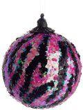 Zebra+Print+Christmas+Decorations | Pink and Black Iridescent Animal P...