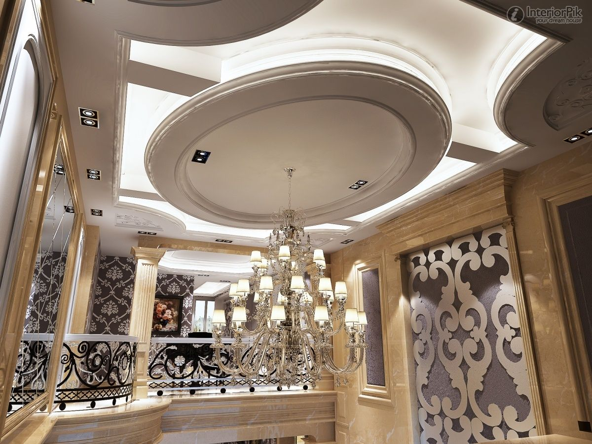European Style Villa Ceiling Decoration Effect Pictures (