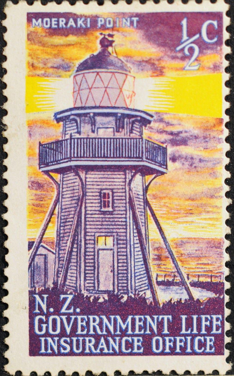 New Zealand 245 1969 Life Insurance Department Lighthouse