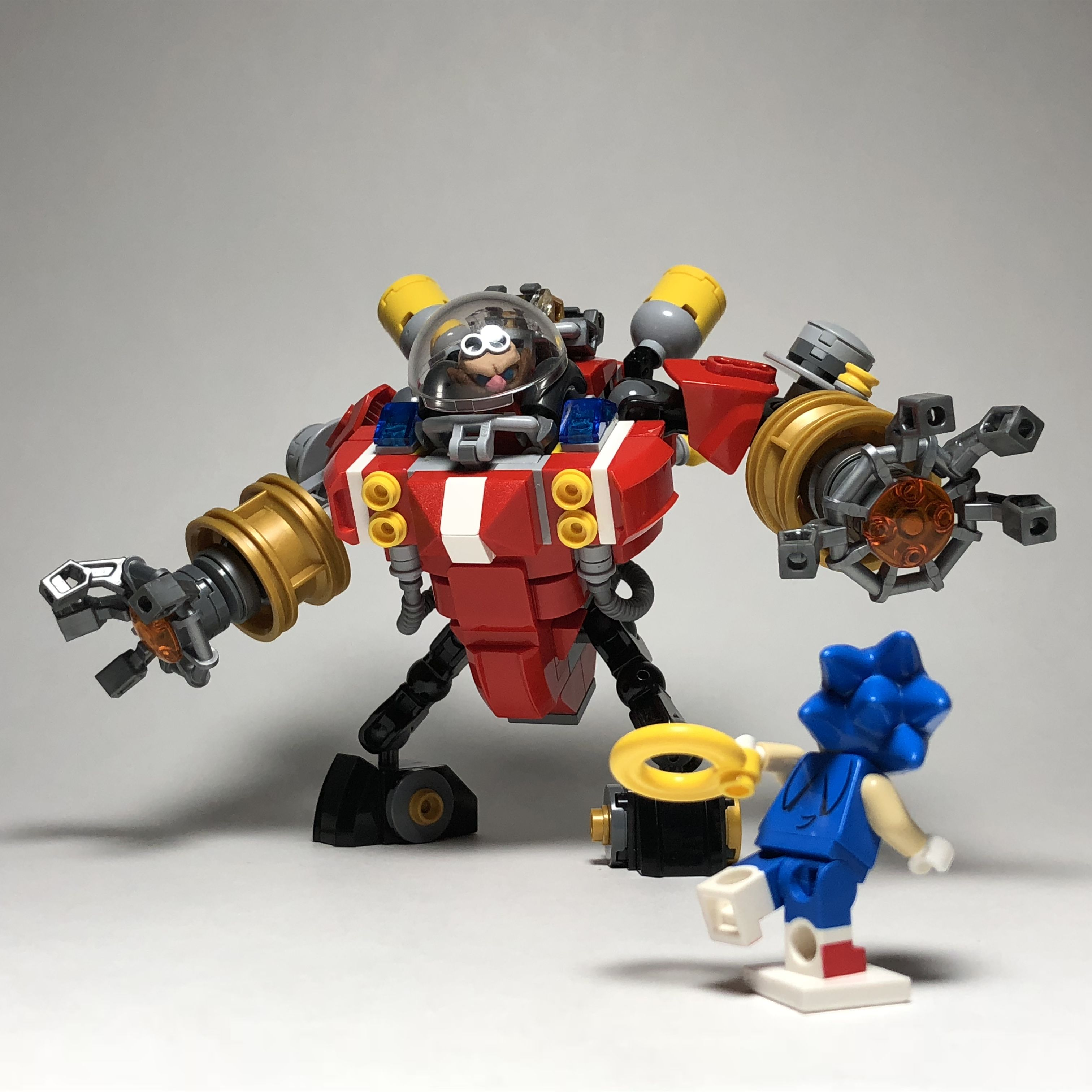 Lego Ideas Sonic The Hedgehog Vs Dr Eggman Lego Design Cool Lego Creations Lego Robot