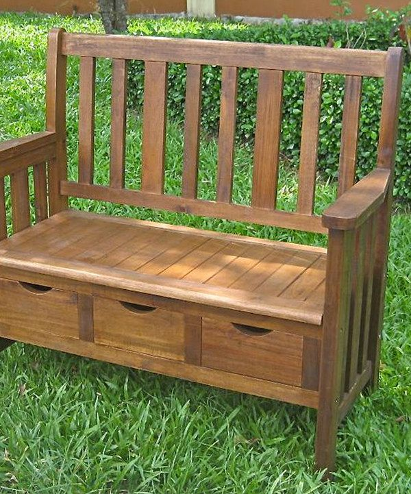 Look At This Natural Triple Drawer High Back Storage Bench On
