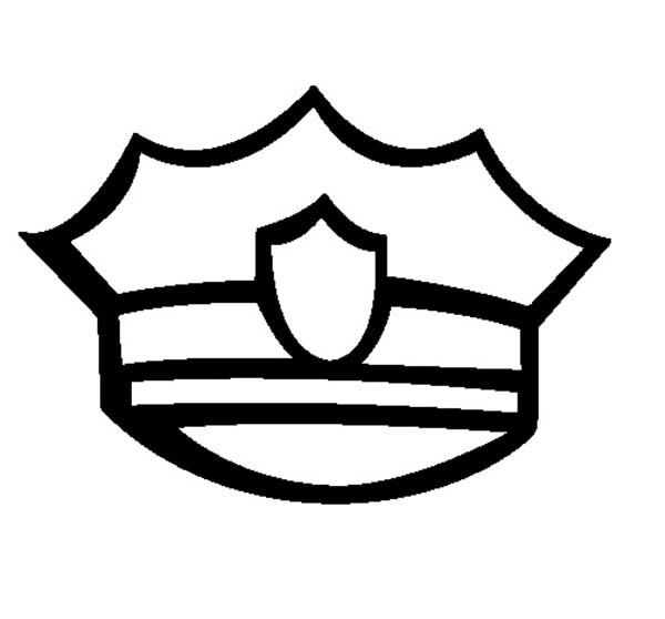 Badge On Policeman Hat Coloring Page Coloring Sky In 2020 Police Officer Police Hat Policeman