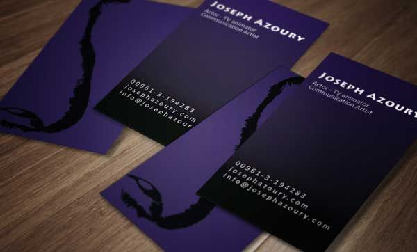 Stylish purple business card design for joseph azoury an actor and stylish purple business card design for joseph azoury an actor and tv animator designed colourmoves Image collections