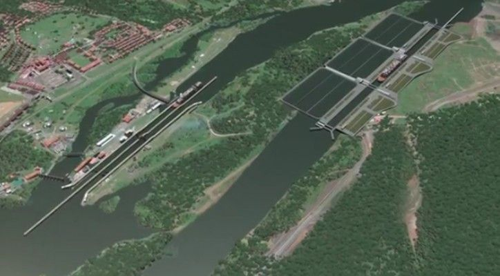 Watch: Panama Canal's New Pacific Access Channel Meets Culebra Cut