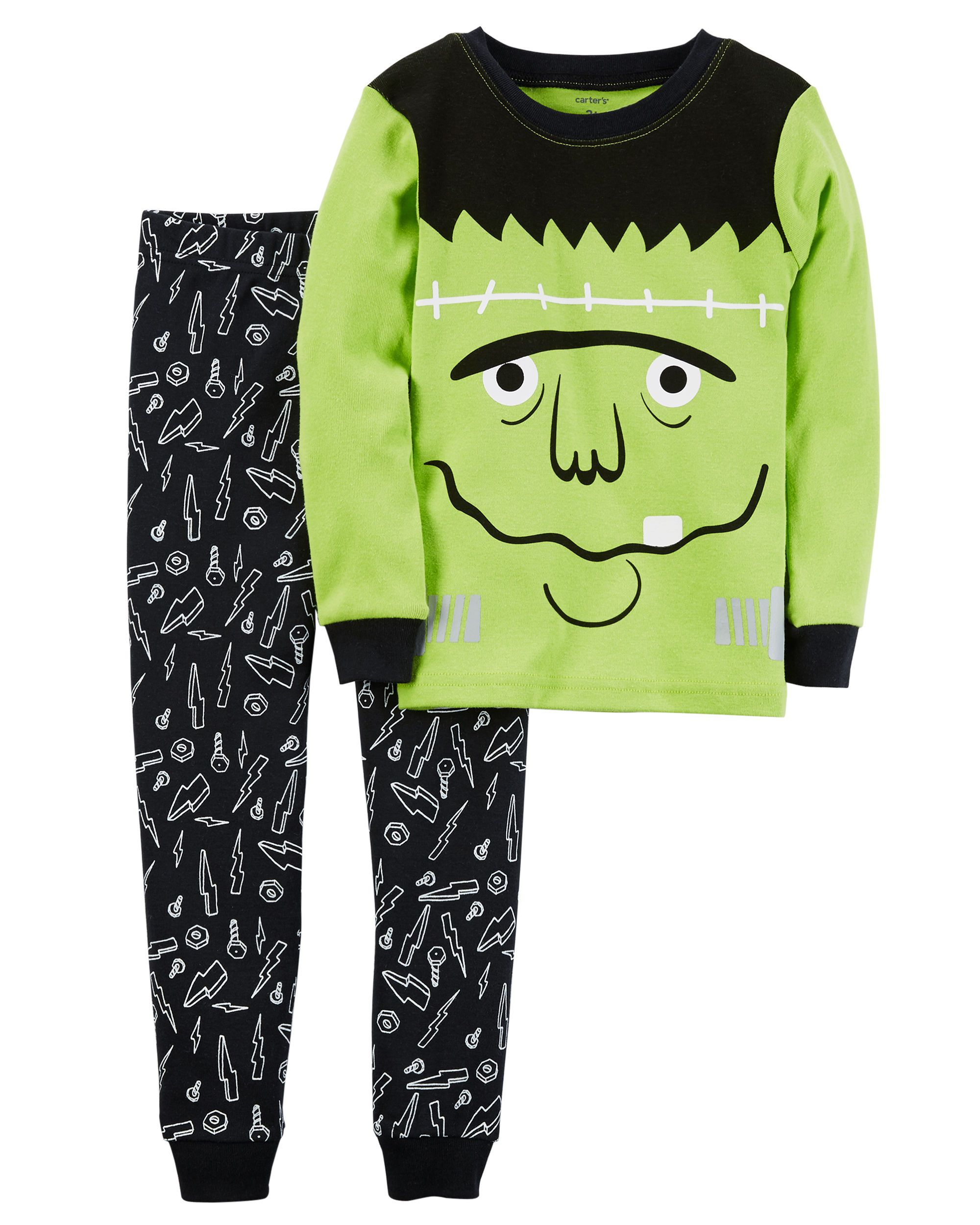 ed5d93657466 2-Piece Frankenstein Snug Fit Cotton Halloween PJs