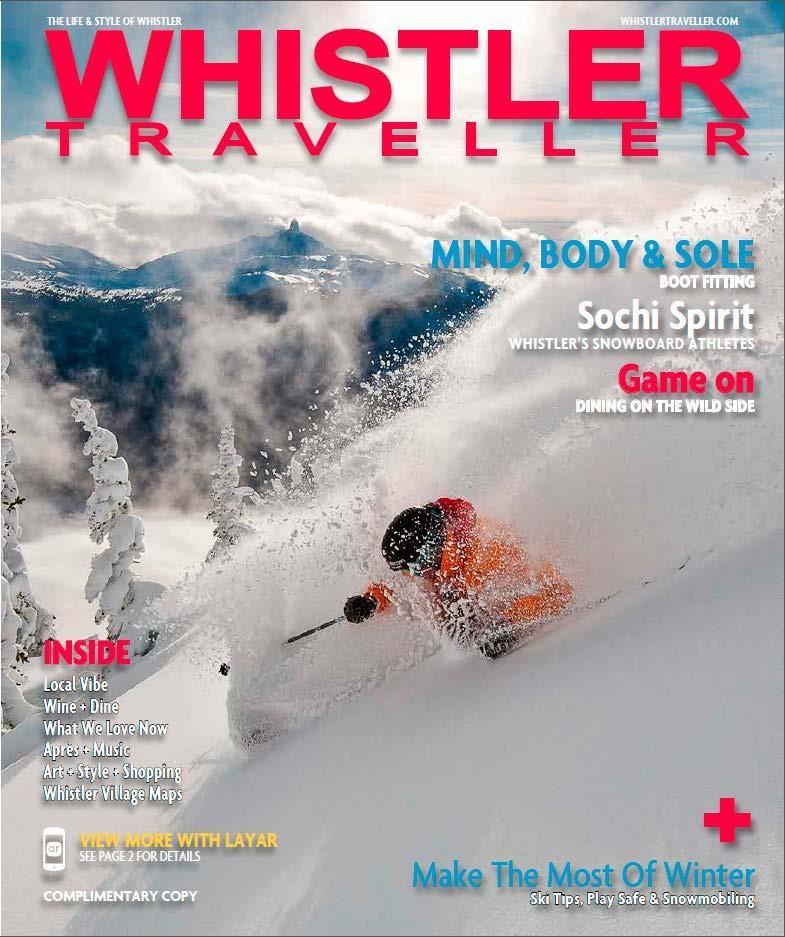 Winter issue of Whistler Traveller.