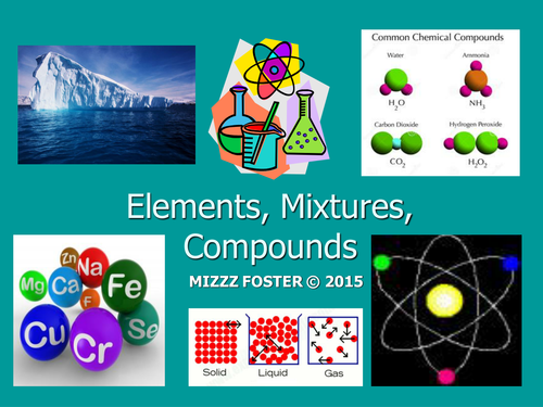 Elements, Compounds, Mixtures, Solutions Power Point