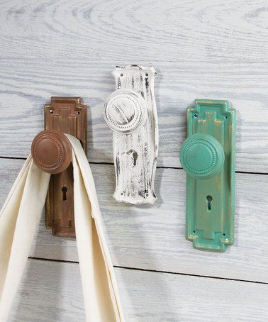 Another great find on #zulily! Western Door Knob Wall Hook - Set of ...