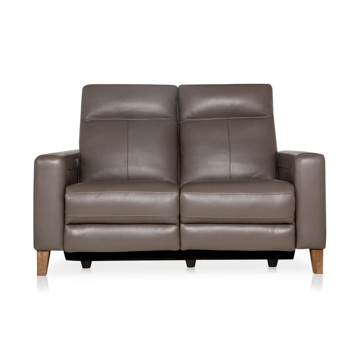 Xander 2 Seat Leather Electric Recliner Sofa Taupe Reclining Sofa Electric Recliners Sofa