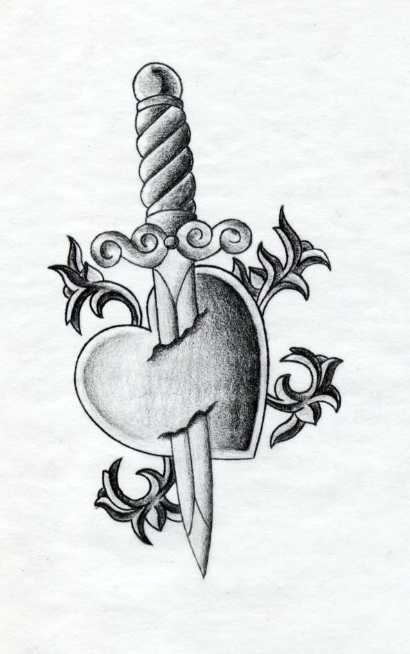 Heart And Dagger Tattoo By Xenatheconqueror Tattoo Flash Art A R