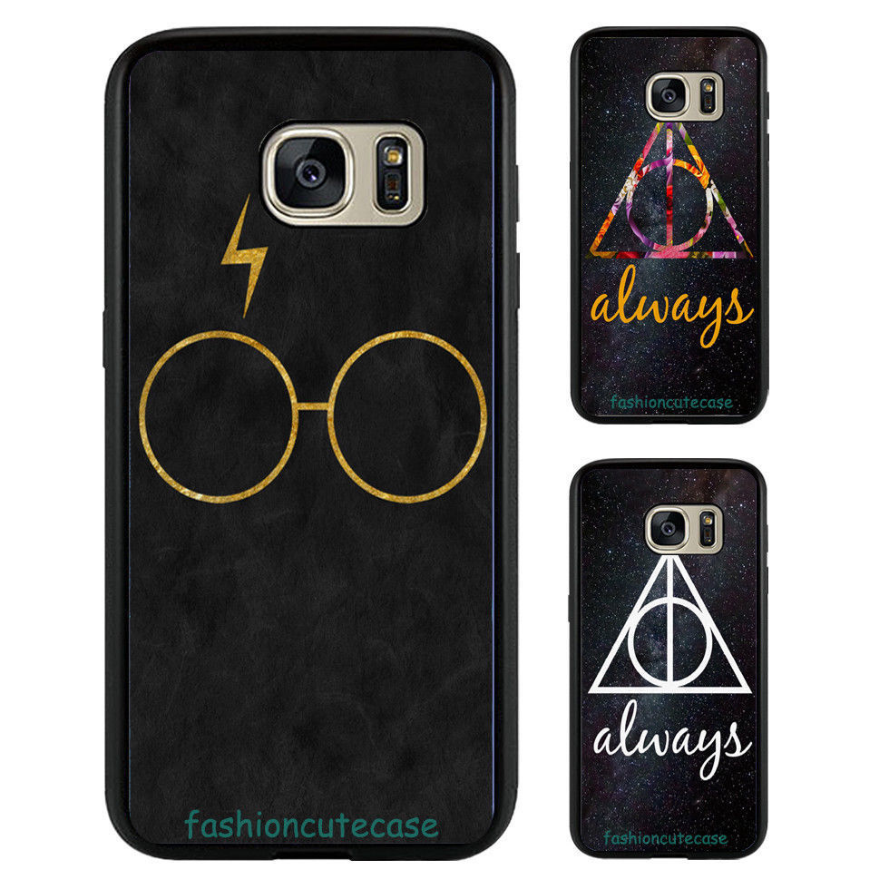 Harry potter design rubber phone case cover for samsung