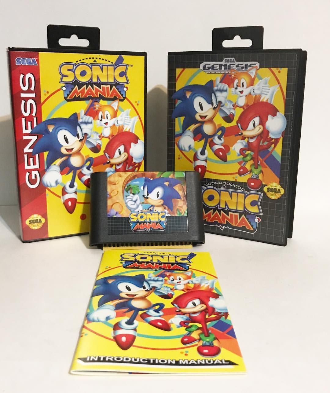 Custom Sonic Mania Sega Genesis by @toy_saurus_games ...