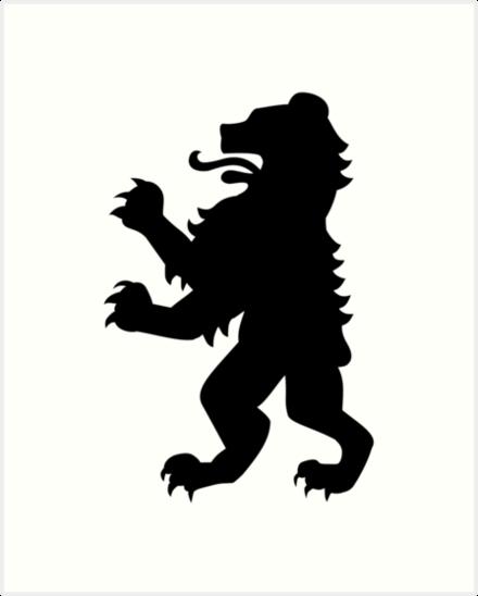 Bear heraldry' Art Print by Designzz | Arthur's first