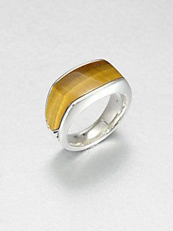 9e38ab5dbe76f David Yurman - Tiger Eye & Sterling Silver Band Ring | What I love ...