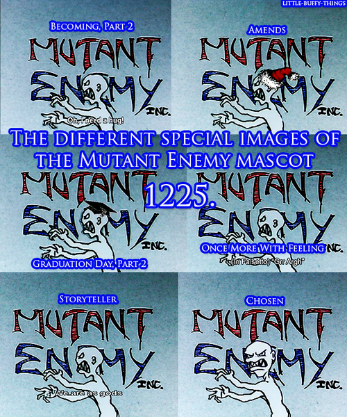 Little Buffy Things 1225 The Different Mutant Enemy Logos Vampire Slayer Buffy The Vampire Buffy The Vampire Slayer