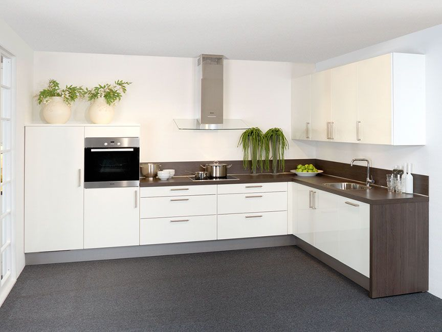 Hoekkeuken in wit keuken kitchens kitchen