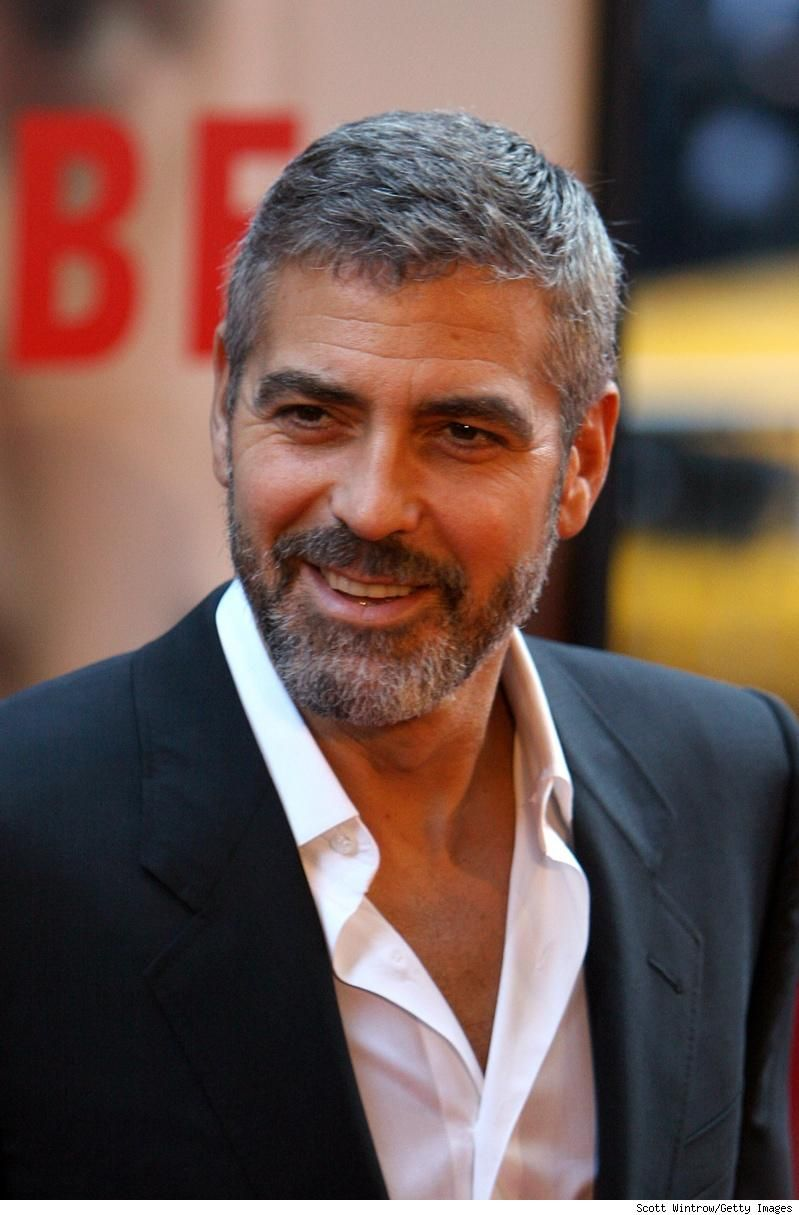 George Clooney Short Side Part Mens Hairstyles Short George Clooney Short Hair Styles