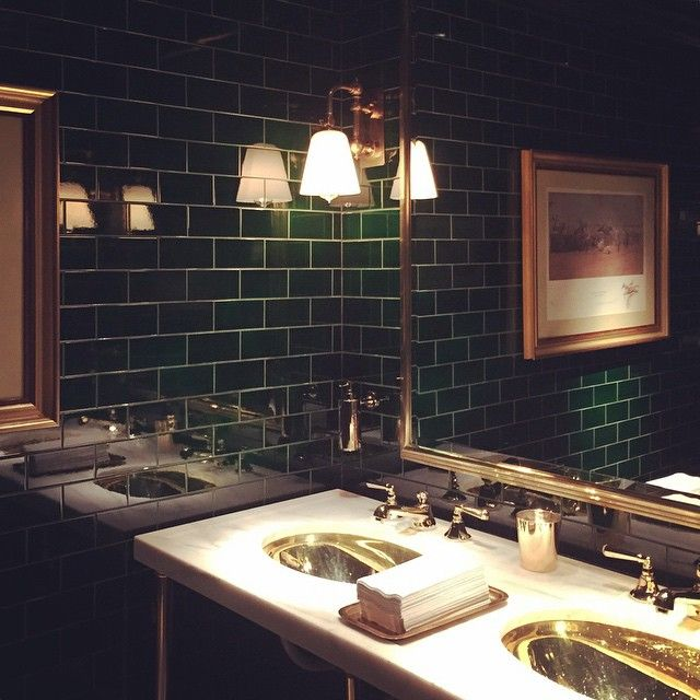 Polo Bar Ny Restroom Design Art Deco Bathroom Bathroom Decor Themes