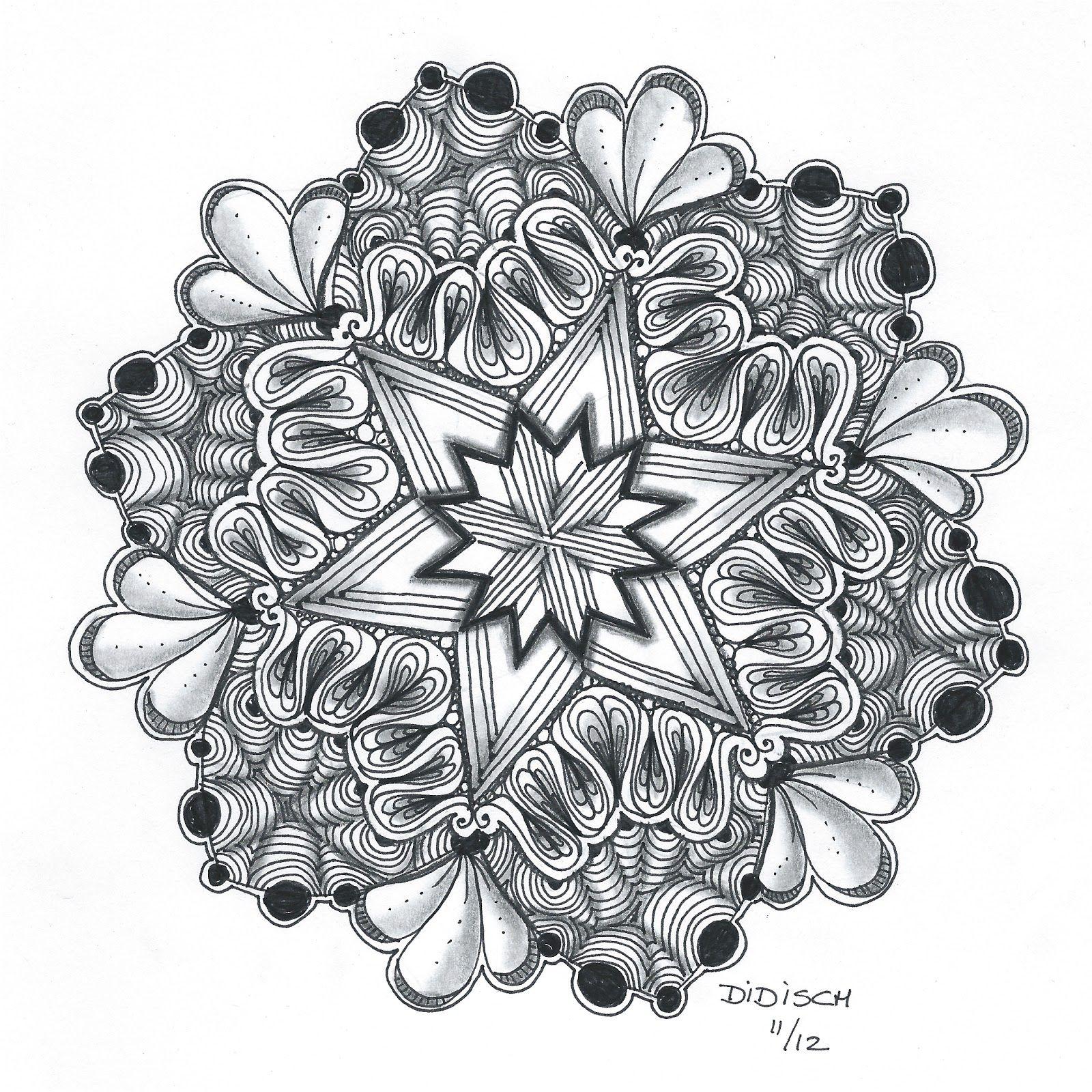 Didisch Website Zendala Dare 31 Zentangle Patronen Mandala Kleurplaten Zentangles