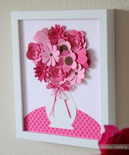 Картина цветы своими руками из бумаги