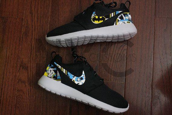 Vintage Batman Nike Roshe Run Black Custom