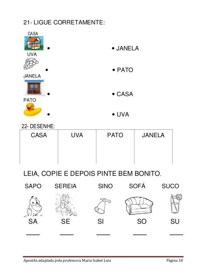 Apostila Adaptada Alfabetizacao Em 2020 Com Imagens Educacao