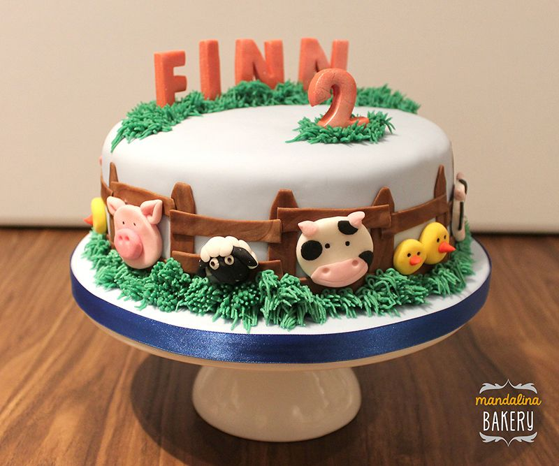 Image Result For Farm Animal Cake Ideas 2 Year Old Farm Birthday Cakes Animal Birthday Cakes Farm Cake