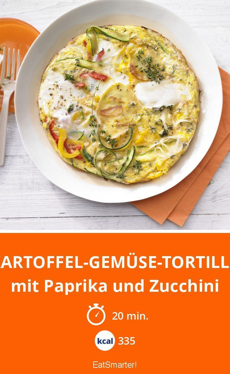 Kartoffel Kcal kartoffel gemüse tortilla rezept zucchini