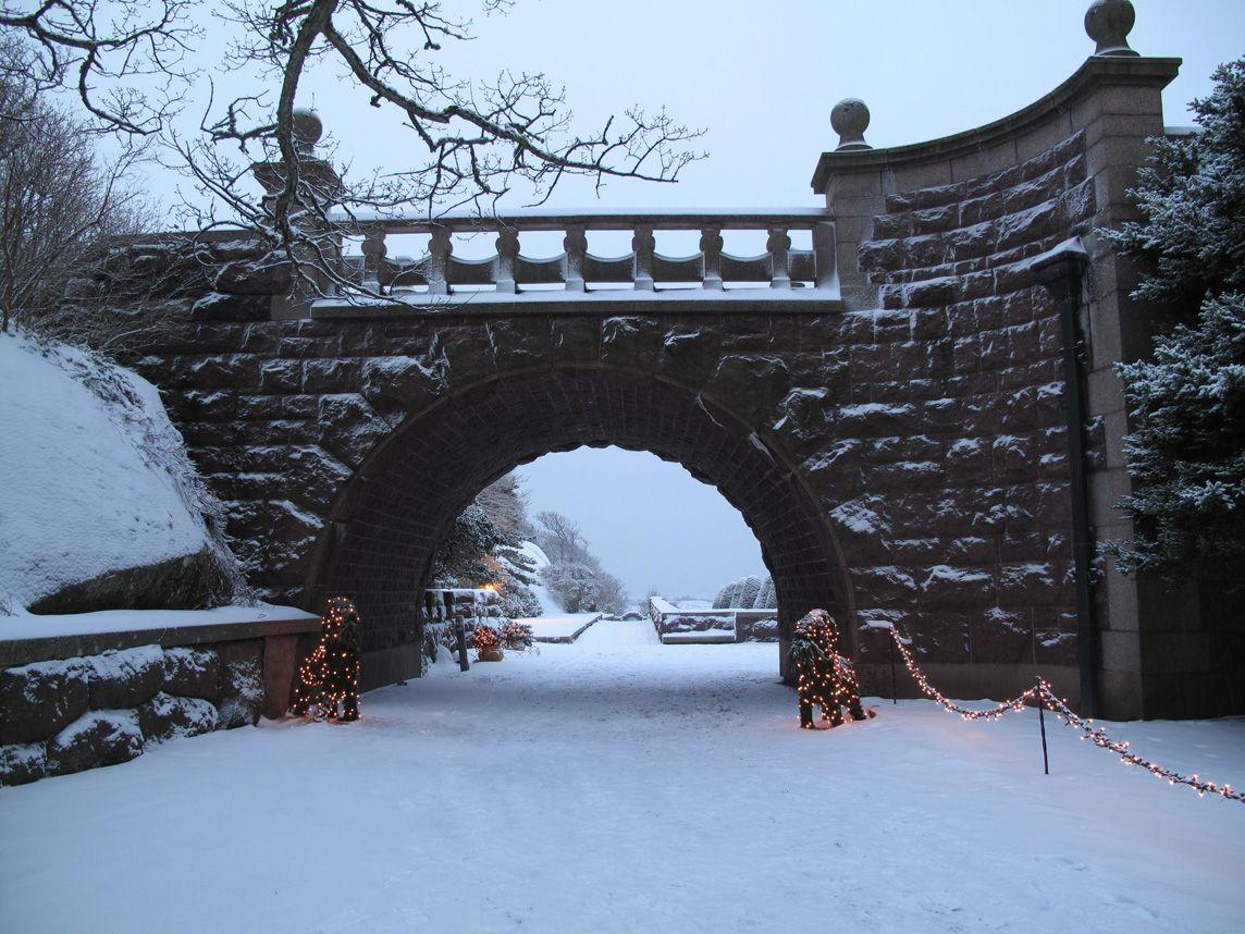 stunning snow scene @ Tjoloholm Castle, Sweden.