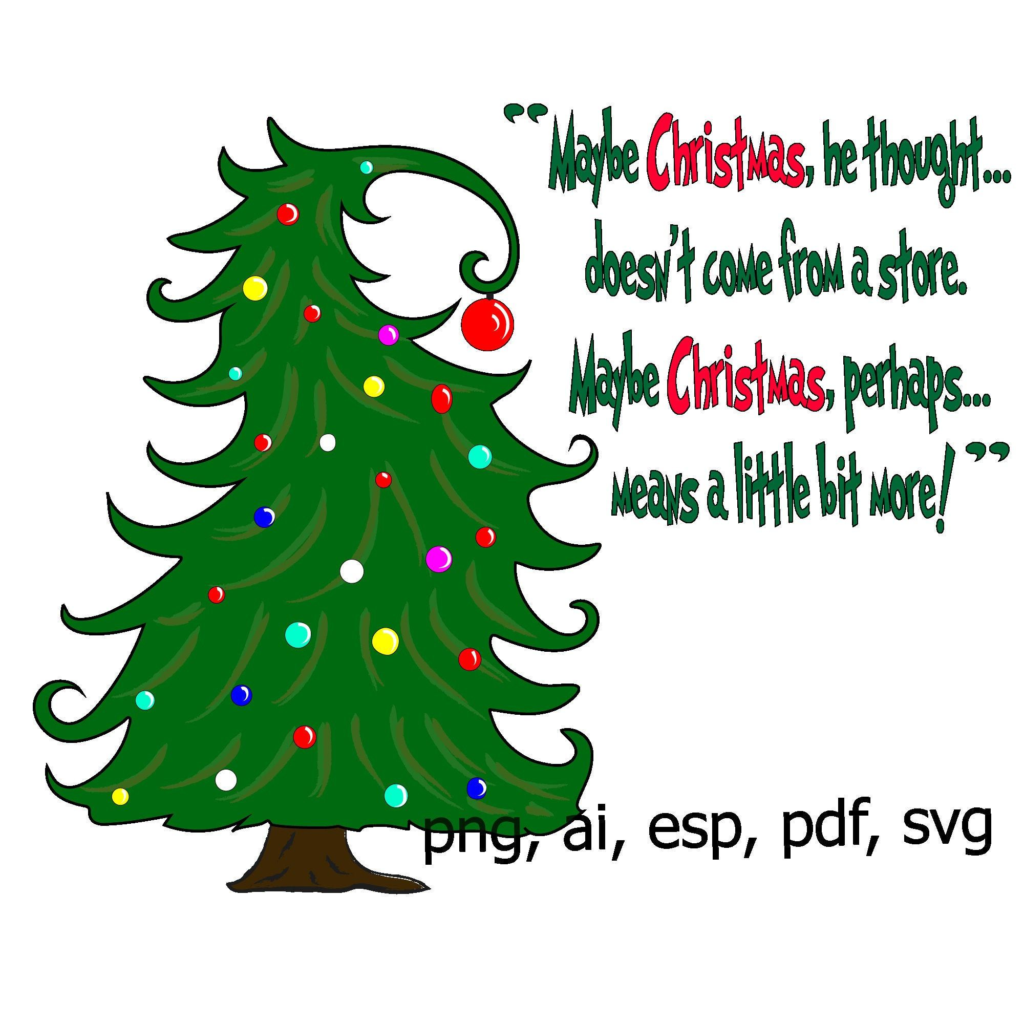Christmas Tree Svg Whoville Inspired Tree Silly Tree Curvy Christmas Tree Vinyl Cricut Silhouette Digita Tree Svg Grinch Christmas Tree Grinch Christmas