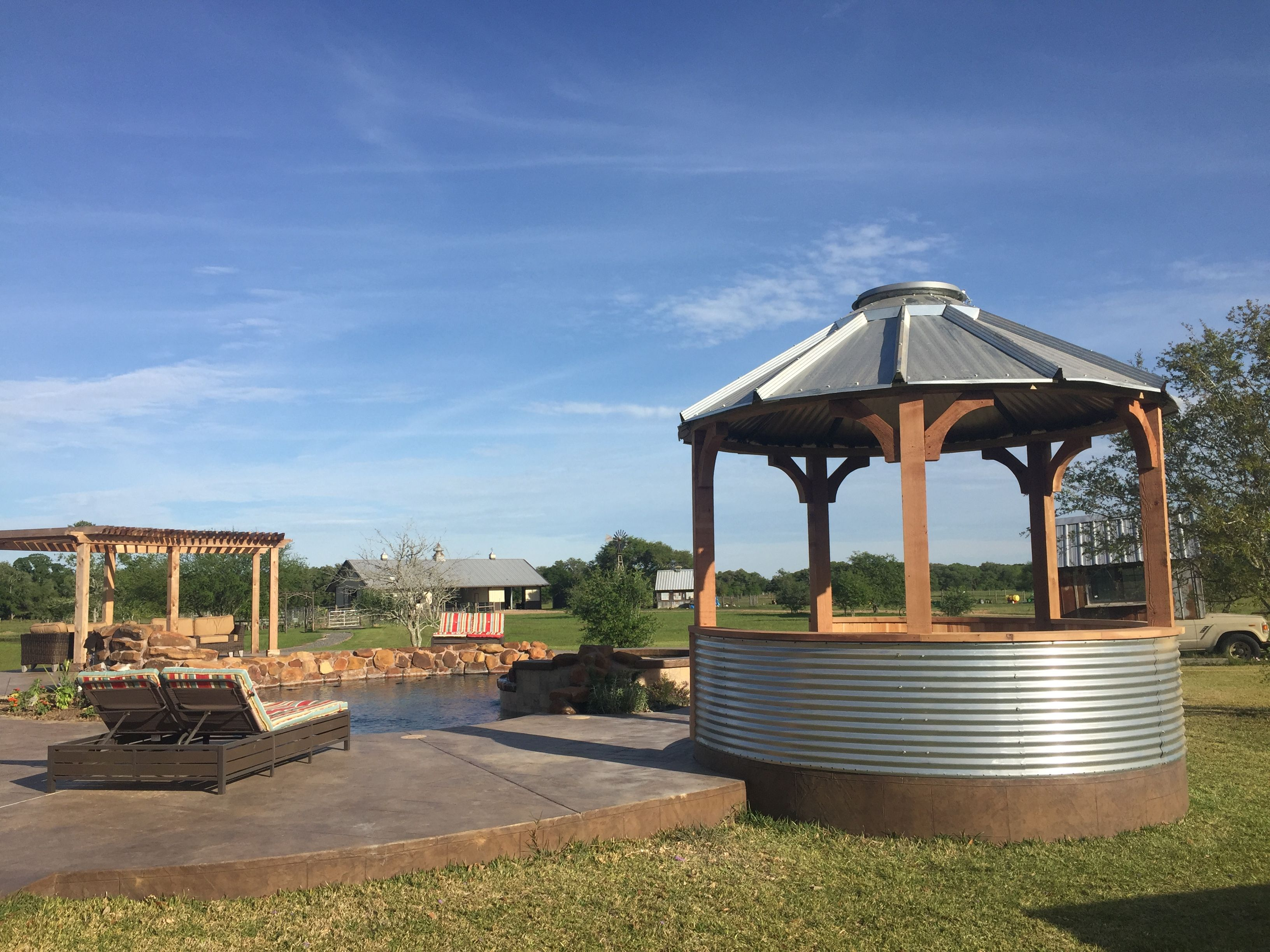grain bin gazebo | Round Mott Ranch | Pinterest | Yards, Backyard ...