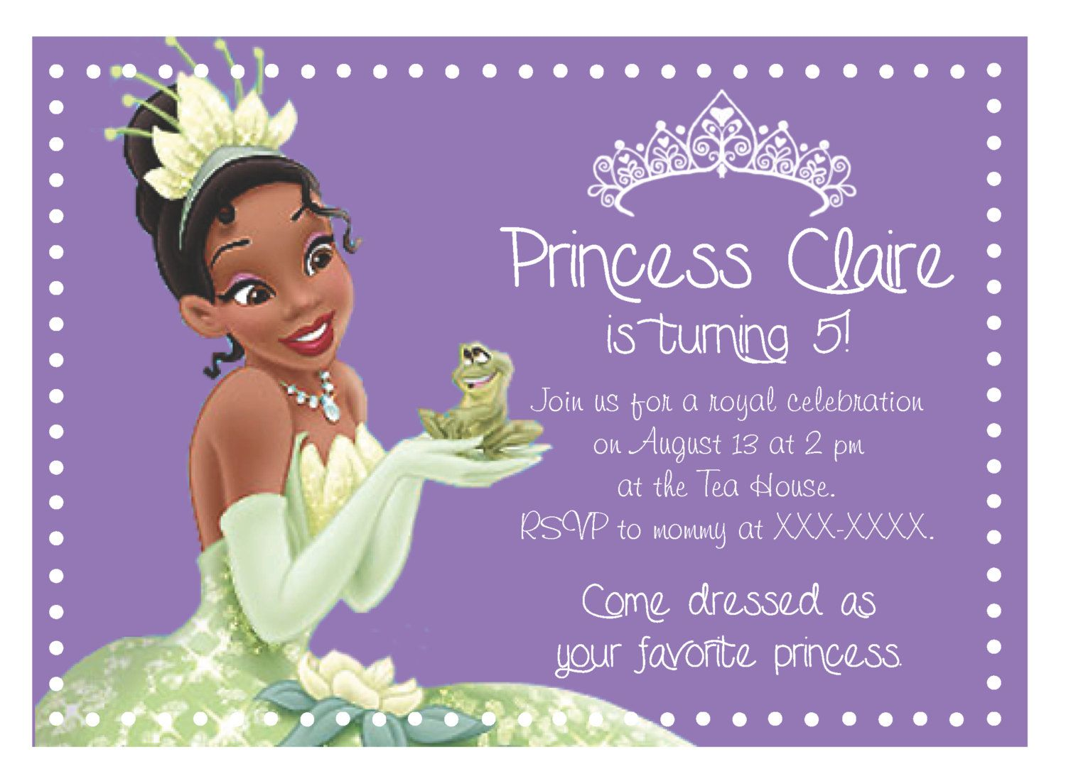 Princess Tiana Invitations Cupcake Toppers and Banner 600 via – Princess Tiana Party Invitations